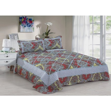 Rebecca King Size Quilt Set - Includes 2 Standard Pillow Shams