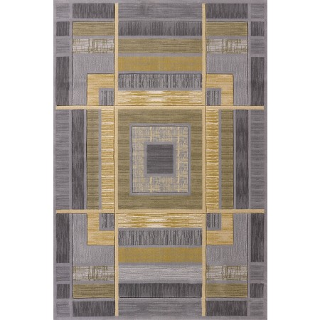 Ambience Silver Area Rug - Geometric Style