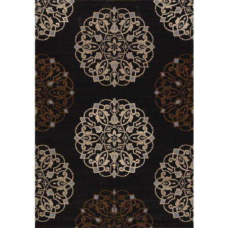 Julian Charcoal Area Rug - Transitional Style