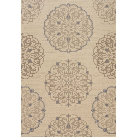 Julian Creme Area Rug - Transitional Style