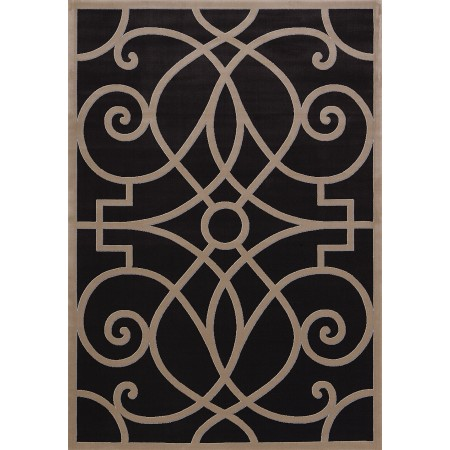 Legarrette Charcoal Area Rug - Transitional Style