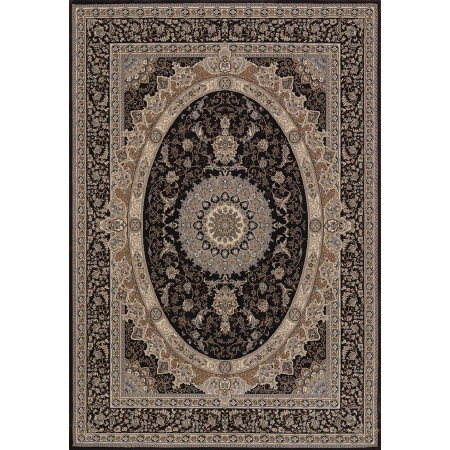 Yves Charcoal Area Rug - Traditional Style