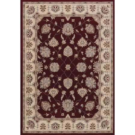 Sacha Red Area Rug - Traditional Style
