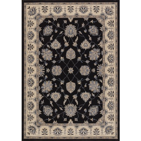 Sacha Charcoal Area Rug - Traditional Style