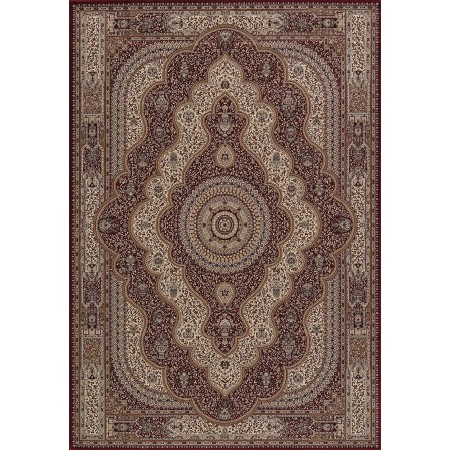 Reese Red Area Rug - Transitional Style