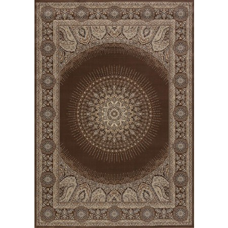 Drake Brown Area Rug - Transitional Style