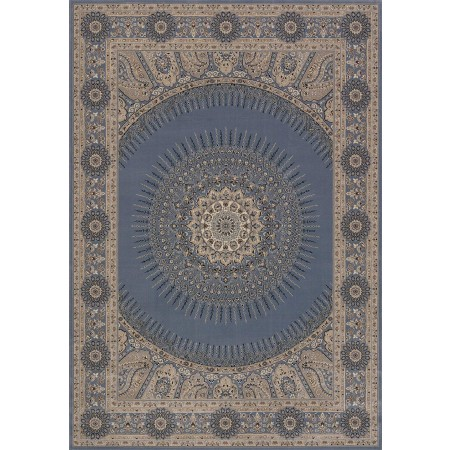 Drake Bluegrey Area Rug - Transitional Style
