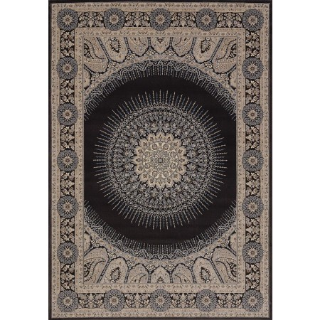 Drake Charcoal Area Rug - Transitional Style