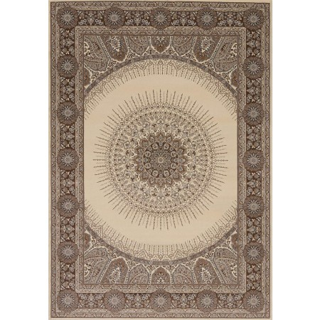 Drake Cream Area Rug - Transitional Style