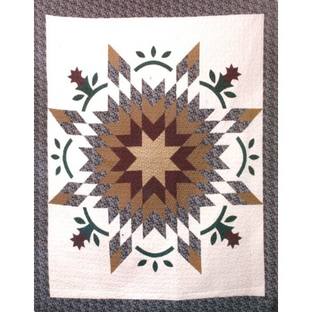 Moon River Star Throw Size Quilt