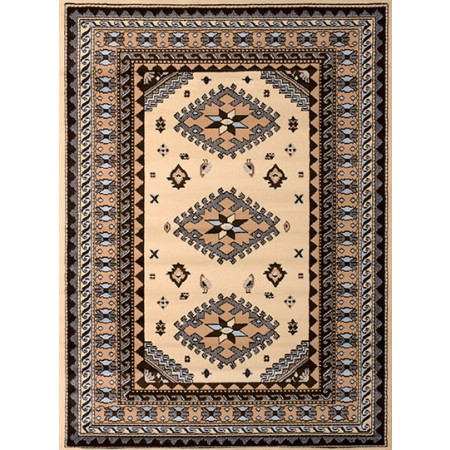 Tres Ivory Area Rug - Traditional Style