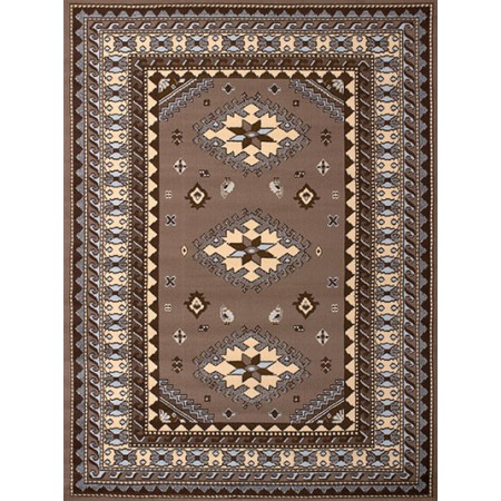 Tres Ash Beige Area Rug - Traditional Style