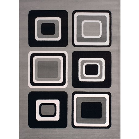 Spaces Silver Area Rug - Geometric Style