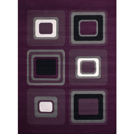 Spaces Lilac Area Rug - Geometric Style
