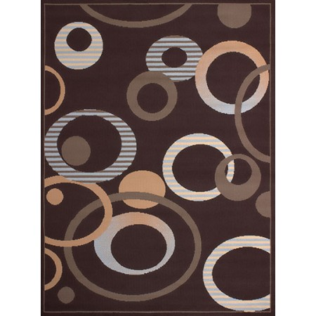 Hip-Hop Chocolate Area Rug - Geometric Style