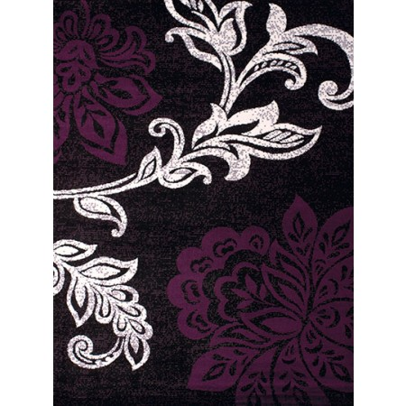 Trouseau Plum Area Rug - Traditional Style
