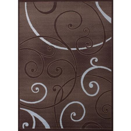 Bangles Chocolate Area Rug - Transitional Style