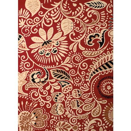 Bandanna Red Area Rug - Transitional Style