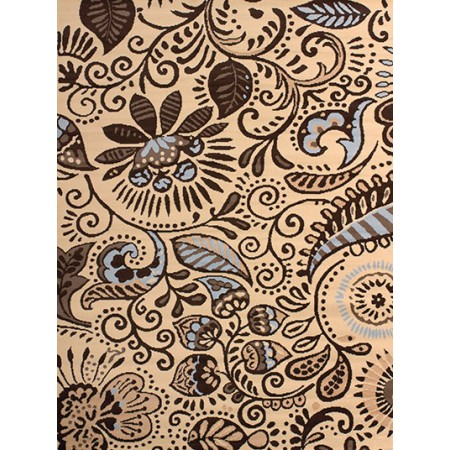 Bandanna Blue Area Rug - Transitional Style
