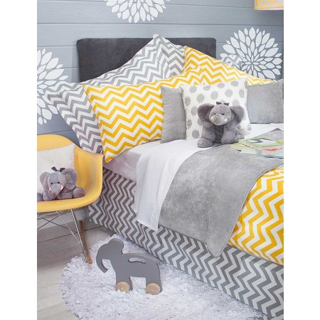 Swizzle Yellow Duvet Cover by Sweet Potato