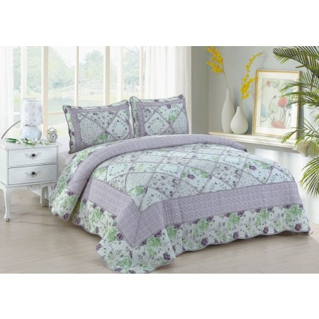 Lovely King Size Quilt Set - Includes 2 Standard Pillow Shams