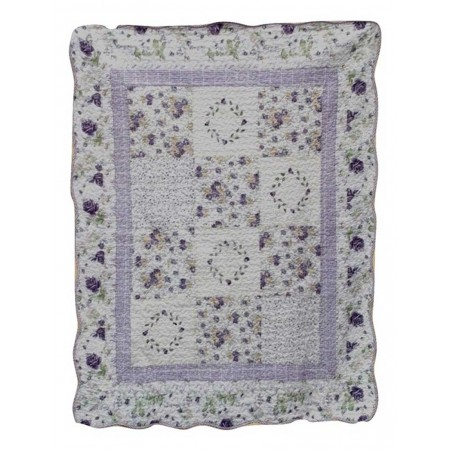 Lilac Fields Throw Size Quilt - Purple