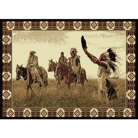 "Sending Out 63"" Width X 86"" Length Area Rug - Southwestern Style"