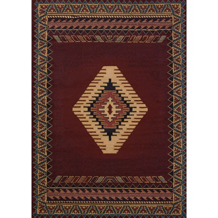 Tucson Burgundy Area Rug - Southwestern Themed