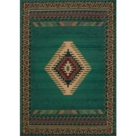 Tucson Lt Green Area Rug - Southwestern Themed