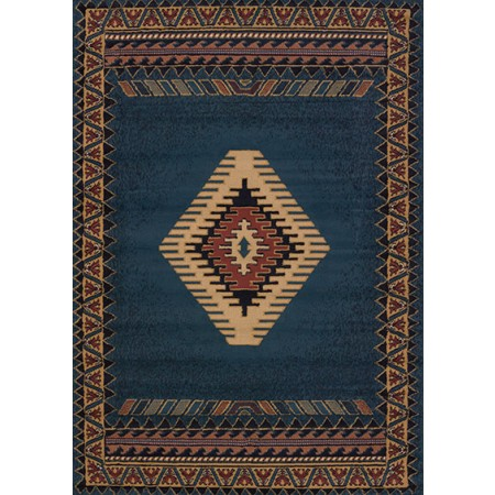 Tucson Lt Blue Area Rug - Southwestern Themed
