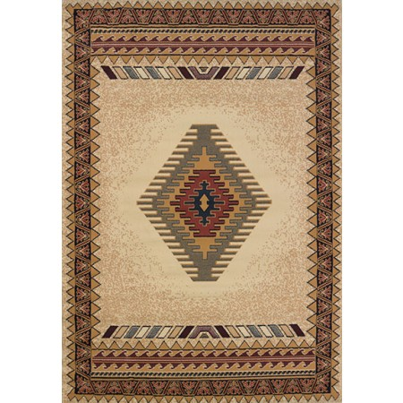 Tucson Cream Area Rug - Southwestern Themed