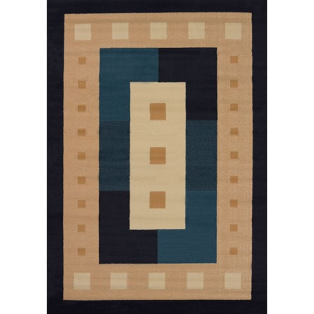 Time Square Navy Area Rug - Geometric Style
