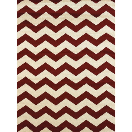 Chevron Red Area Rug