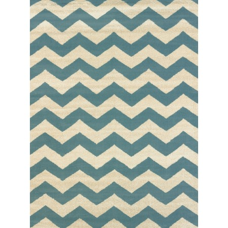 Chevron Blue Area Rug