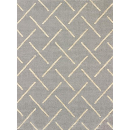 Striker Grey Area Rug - Transitional Style