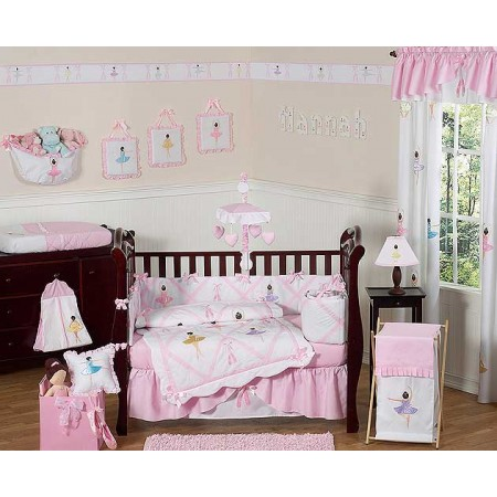 Ballerina Crib Bedding Set by Sweet Jojo Designs - 9 piece