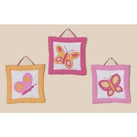 Butterfly Pink & Orange Wall Hanging