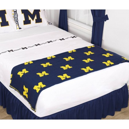 Michigan Wolverines Throw Blanket - Bed Runner