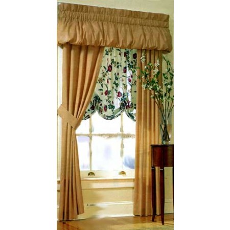 200 Thread Count Solid Color Balloon Valance - Choose from 20 Colors