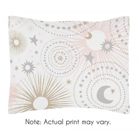 Celestial Pink & Gold Pillow Sham