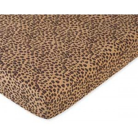 Cheetah Pink Crib Sheet