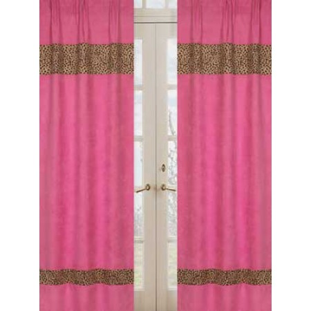 Cheetah Pink Window Panels