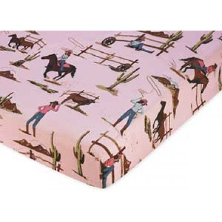Cowgirl Western Crib Sheet