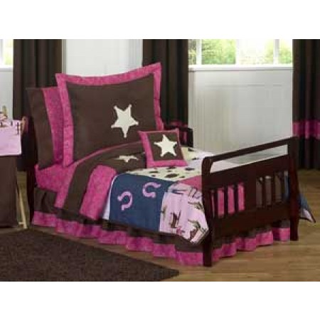 Cowgirl Western Toddler Bedding Set By Sweet Jojo Designs