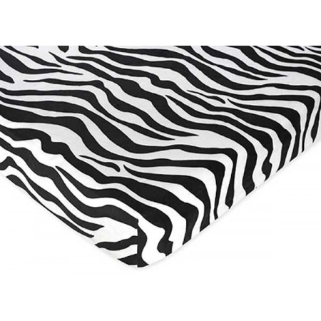 Blue Zebra Crib Sheet