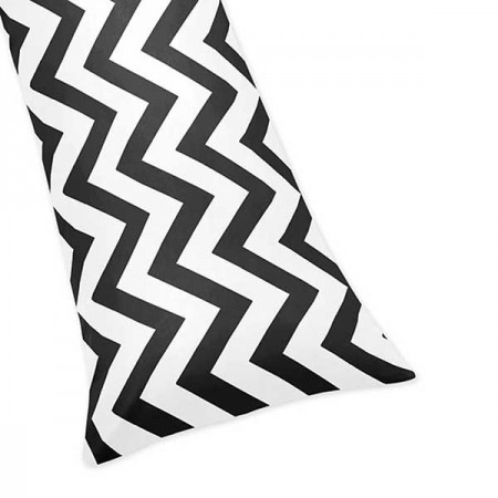 Black & White Chevron Print Body Pillow Cover