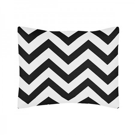 Black & White Chevron Print Pillow Sham