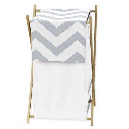 Grey & White Chevron Print Hamper
