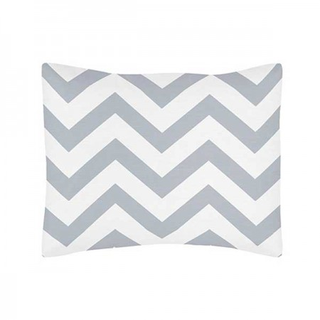 Grey & White Chevron Print Pillow Sham