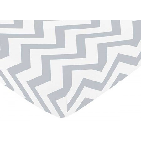 Grey & White Chevron Print Crib Sheet